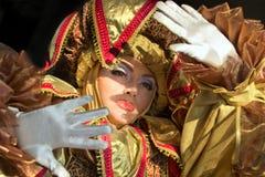 Uitvoerders in Venetiaans kostuum Royalty-vrije Stock Fotografie