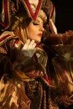 Uitvoerders in Venetiaans kostuum Royalty-vrije Stock Afbeeldingen