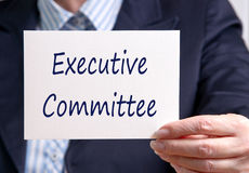 Uitvoerend comité royalty-vrije stock afbeelding