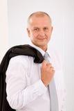 Uitvoerend rijp zakenman professioneel portret stock afbeeldingen