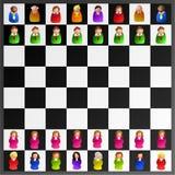Uitvoerend schaak Royalty-vrije Stock Afbeeldingen