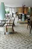 Uitvoerend zitkamer en restaurant in upscalehotel Royalty-vrije Stock Fotografie