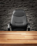 Uitvoerende stoel in van het bedrijfs luxebureau concept royalty-vrije stock foto's