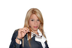 Uitvoerende vrouw Stock Afbeelding