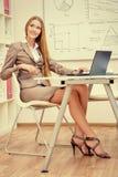 Uitvoerende vrouw Royalty-vrije Stock Afbeeldingen