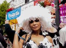 Uitvoerig geklede deelnemer, tijdens Christopher Street Day P Royalty-vrije Stock Foto's