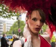 Uitvoerig geklede deelnemer, tijdens Christopher Street Day P Royalty-vrije Stock Fotografie