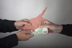 De financiële crisis van Cyprus van het concept Royalty-vrije Stock Fotografie