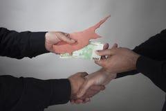 De financiële crisis van Cyprus van het concept Royalty-vrije Stock Afbeelding