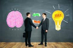 Uitwisseling van ideeën, groepswerk en ideeconcept royalty-vrije stock afbeelding