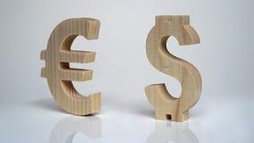 Uitwisselingsclassificatie De Euro van het muntteken, Dollar Royalty-vrije Stock Afbeelding
