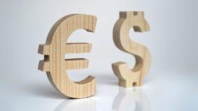 Uitwisselingsclassificatie De Euro van het muntteken, Dollar Stock Afbeelding