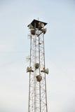 Uitzendende torensprekers. Stock Afbeelding