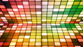 Uitzendings Fonkelend Hi-Tech Kubussenstadium, Multikleur, Samenvatting, Loopable, 4K stock videobeelden