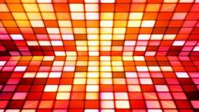 Uitzendings Fonkelend Hi-Tech Kubussenstadium, Rood, Samenvatting, Loopable, 4K stock videobeelden