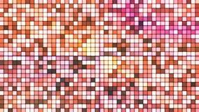 Uitzendings Fonkelende Hi-Tech Abstracte Kubussen, Bruin, Loopable, 4K stock video