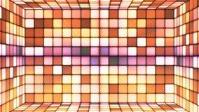 Uitzendings Fonkelende Hi-Tech Abstracte Kubussenzaal, Bruin, Loopable, 4K stock videobeelden