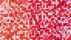Uitzendings Fonkelende Hi-Tech Kubussen, Rood, Samenvatting, Loopable, 4K stock footage