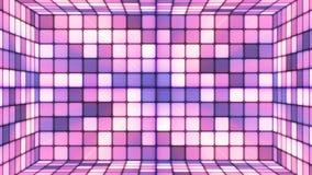 Uitzendings Fonkelende Hi-Tech Kubussenzaal, Purple, Samenvatting, Loopable, 4K stock video