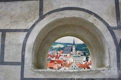 Uitzicht door het venster Royalty-vrije Stock Foto's