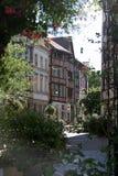Uitzicht op de oude kaderhuizen in Rouen Stock Afbeelding