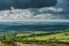 Uitzicht op Engels platteland Royalty-vrije Stock Afbeeldingen