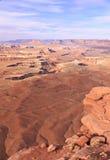 Uitzicht van de Rivier van Canyonlands het Groene Stock Foto