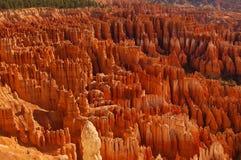 Uitzicht van ongeluksboden in Bryce Canyon National Park in Utah Royalty-vrije Stock Afbeeldingen