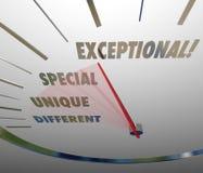 Uitzonderlijke Speciale Unieke Verschillende Snelheidsmeter die Niveau meten Stock Afbeeldingen