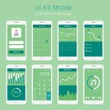 Uiuitrusting mobiel in vlak ontwerp Stock Fotografie