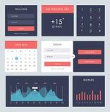 Uiuitrusting voor website en mobiele app royalty-vrije illustratie