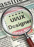 Uiux formgivare Join Our Team 3d Fotografering för Bildbyråer