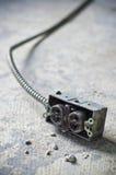 ujście betonowa elektryczna odsłonięta władza Zdjęcia Stock