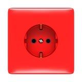 ujście elektryczna odosobniona czerwień Zdjęcia Stock