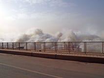 Ujście Merowe hydroelektryczna elektrownia Zdjęcia Royalty Free