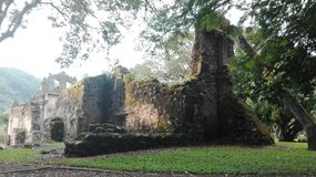 UjarrÃ-¡ s Ruinen, Costa Rica Lizenzfreie Stockbilder