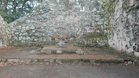 UjarrÃ-¡ s Ruinen, Costa Rica Lizenzfreie Stockfotografie