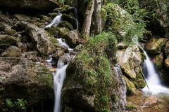 ujawnienia długa halna strumienia siklawa Zdjęcie Royalty Free