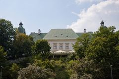 Ujazdà ³ w城堡在华沙在波兰,欧洲 图库摄影