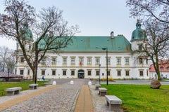 Ujazdow Castle in autumn in Warsaw. Poland. Warsaw, Poland - November 11, 2018: Ujazdow Castle in autumn in Warsaw stock photos