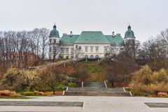 Ujazdow Castle in autumn in Warsaw. Poland. View of Ujazdow Castle in autumn in Warsaw. Poland stock images