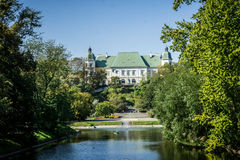 Ujazdow Castle view from Royal Canal in Warsaw, Poland Royalty Free Stock Photography
