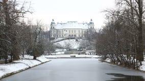 Ujazdow Castle, Warsaw stock video
