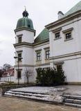 Ujazdowski Castle στα τέλη του χειμώνα Πόλη της Βαρσοβίας, Πολωνία Στοκ Εικόνες
