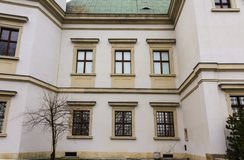 Ujazdowski Castle στα τέλη του χειμώνα Πόλη της Βαρσοβίας, Πολωνία Στοκ Φωτογραφίες