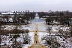 Ujazdowski Castle στα τέλη του χειμώνα Πόλη της Βαρσοβίας, Πολωνία Στοκ φωτογραφίες με δικαίωμα ελεύθερης χρήσης