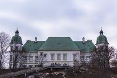 Ujazdowski Castle στα τέλη του χειμώνα Πόλη της Βαρσοβίας, Πολωνία Στοκ Φωτογραφία