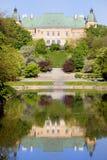 Ujazdowski Castle. Picturesque scenery in Warsaw, Poland stock photo