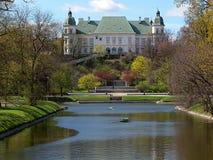 Ujazdowski Castle. Baroque classic Ujazdowski Castle near Agrykola Park in Warsaw stock photos