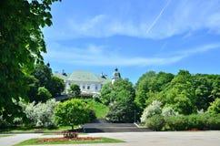 Ujazdowski Castle. In Warsaw. Summer south facade view stock photography